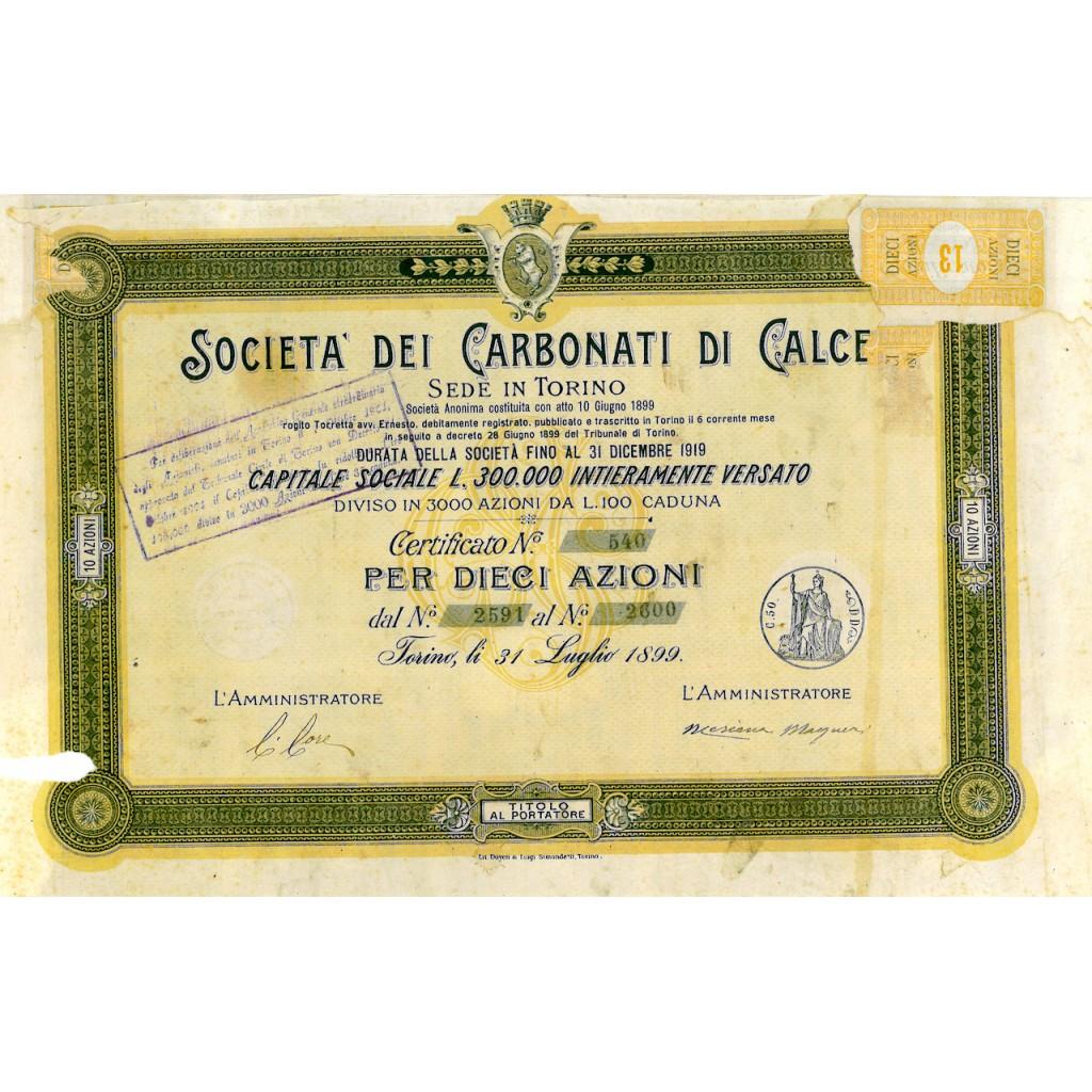 1899 - SOCIETA' DEI CARBONATI DI...