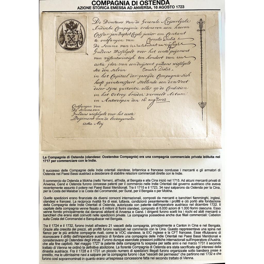1723 - COMPAGNIA DI OSTENDA...