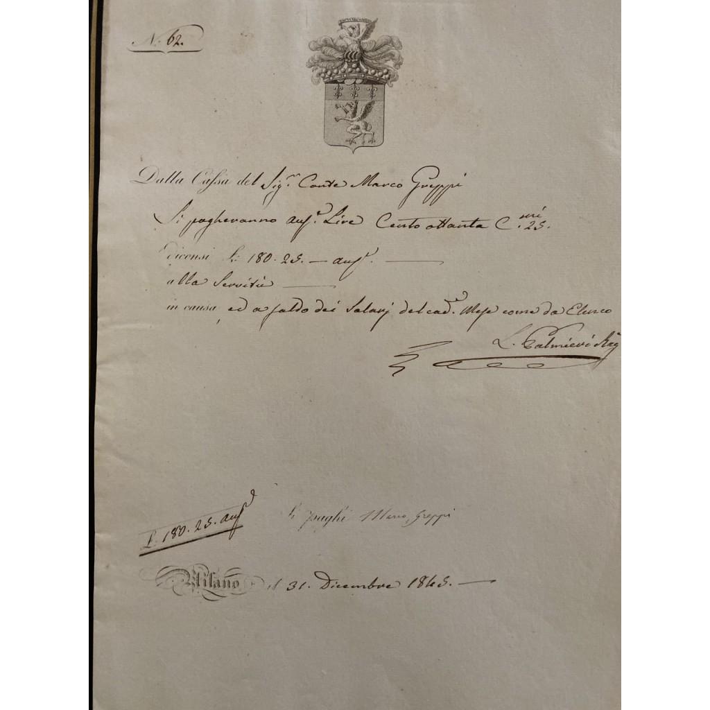 1845 - CASSA CONTI FRATELLI GREPPI -...