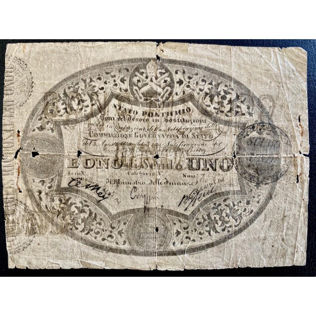 1849 - STATO PONTIFICIO - PAPA PIO IX...