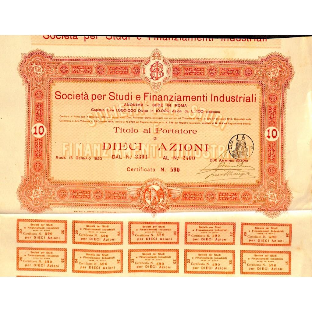 1920 - SOCIETA' PER STUDI E...