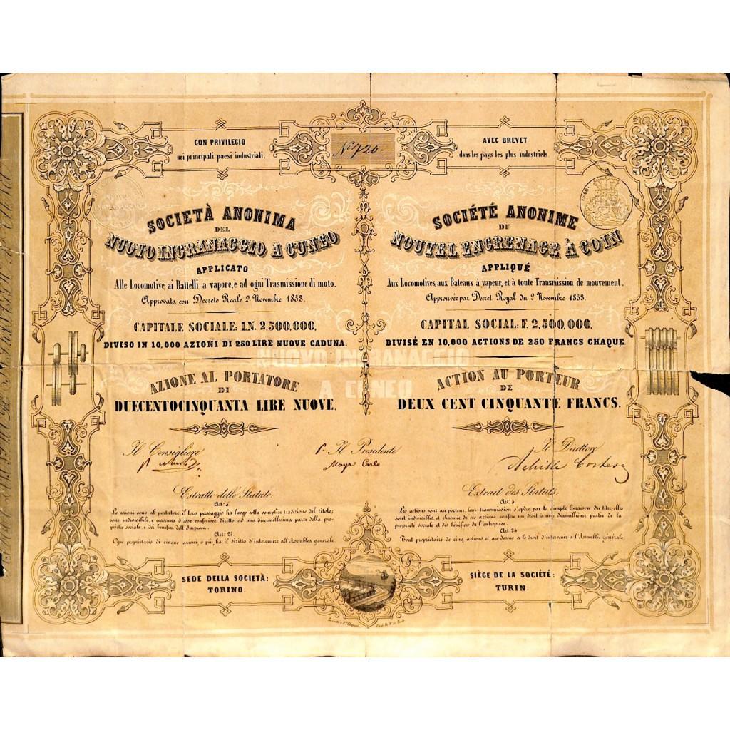 1853 - SOCIETA' ANONIMA DEL NUOVO...