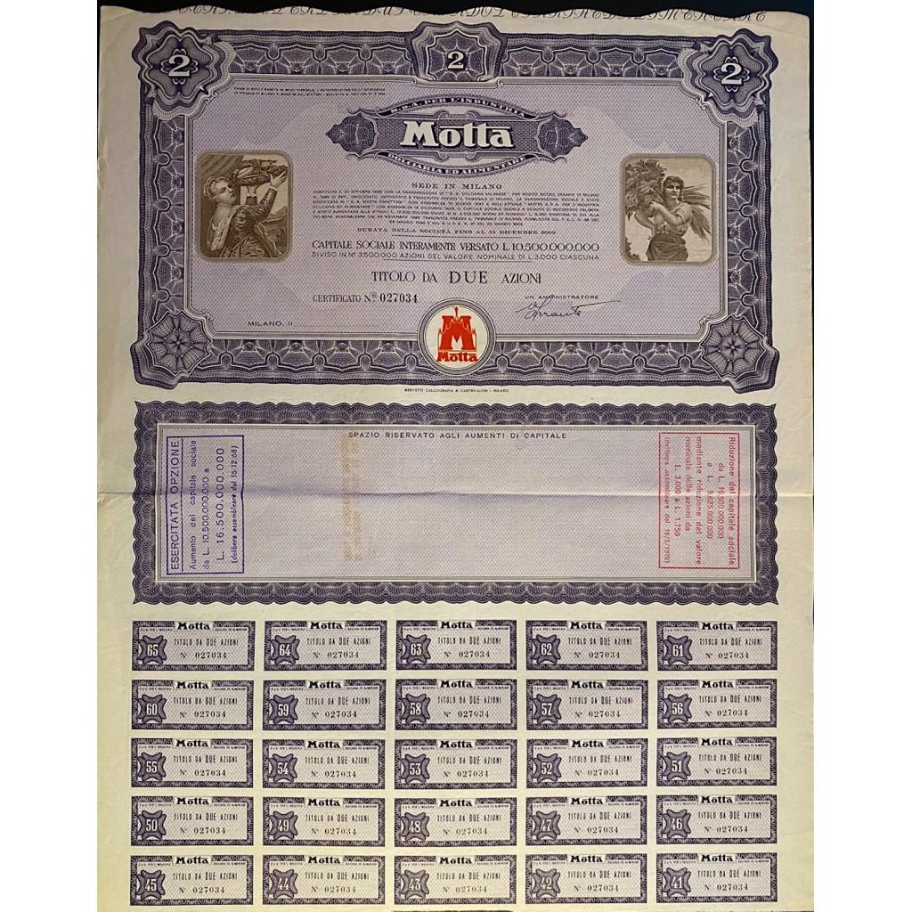 1964 - MOTTA S.p.A PER L'INDUSTRIA...