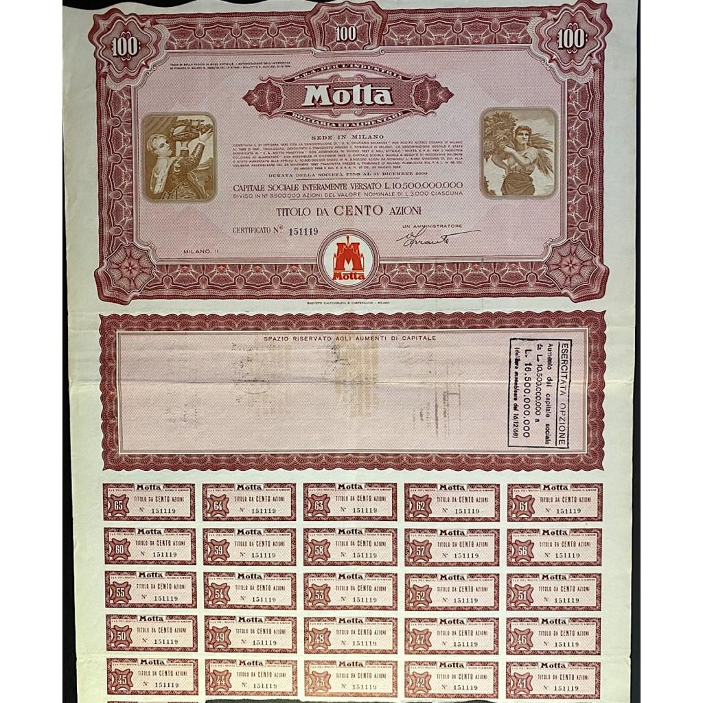 1955 - MOTTA S.p.A PER L'INDUSTRIA...