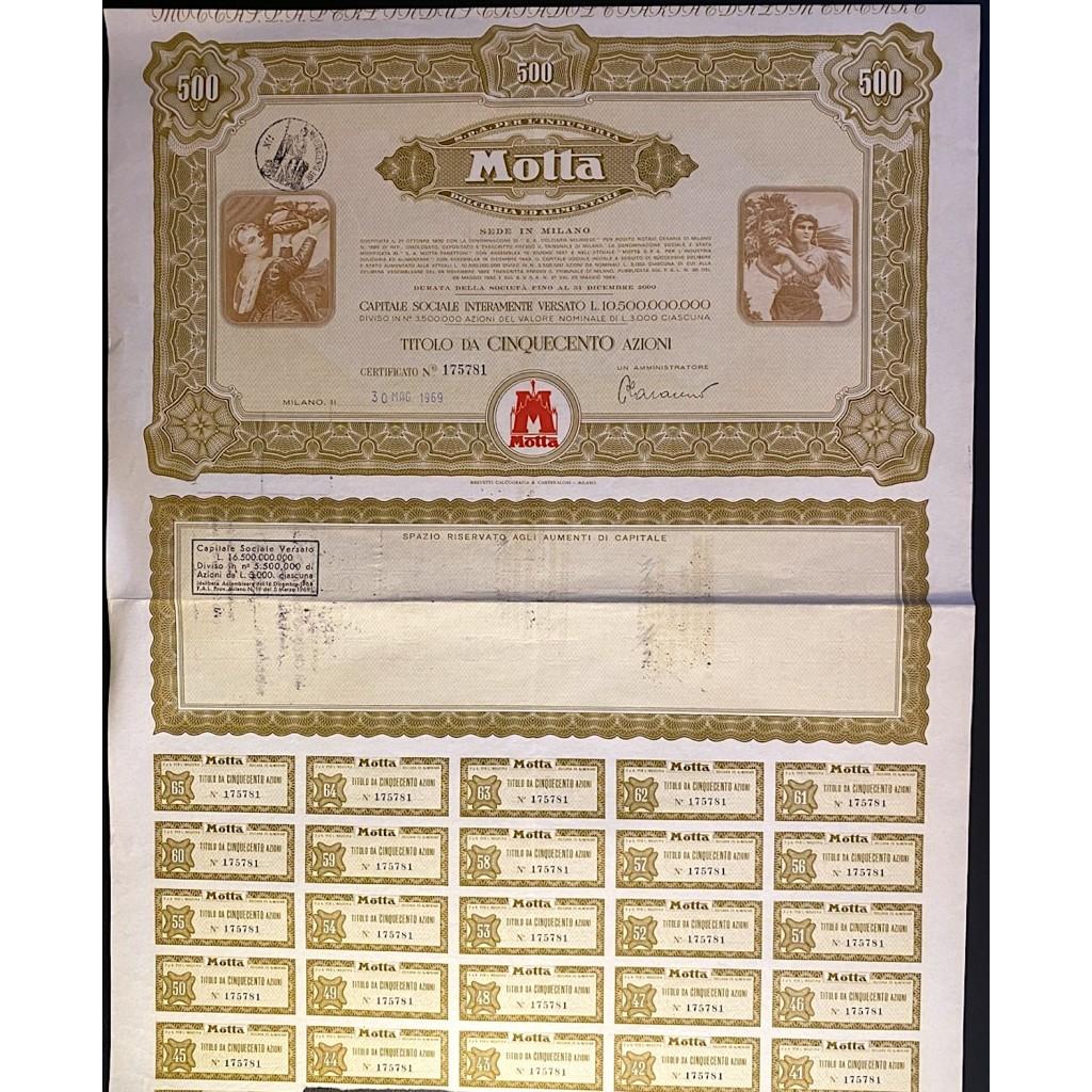 1969 - MOTTA S.p.A PER L'INDUSTRIA...
