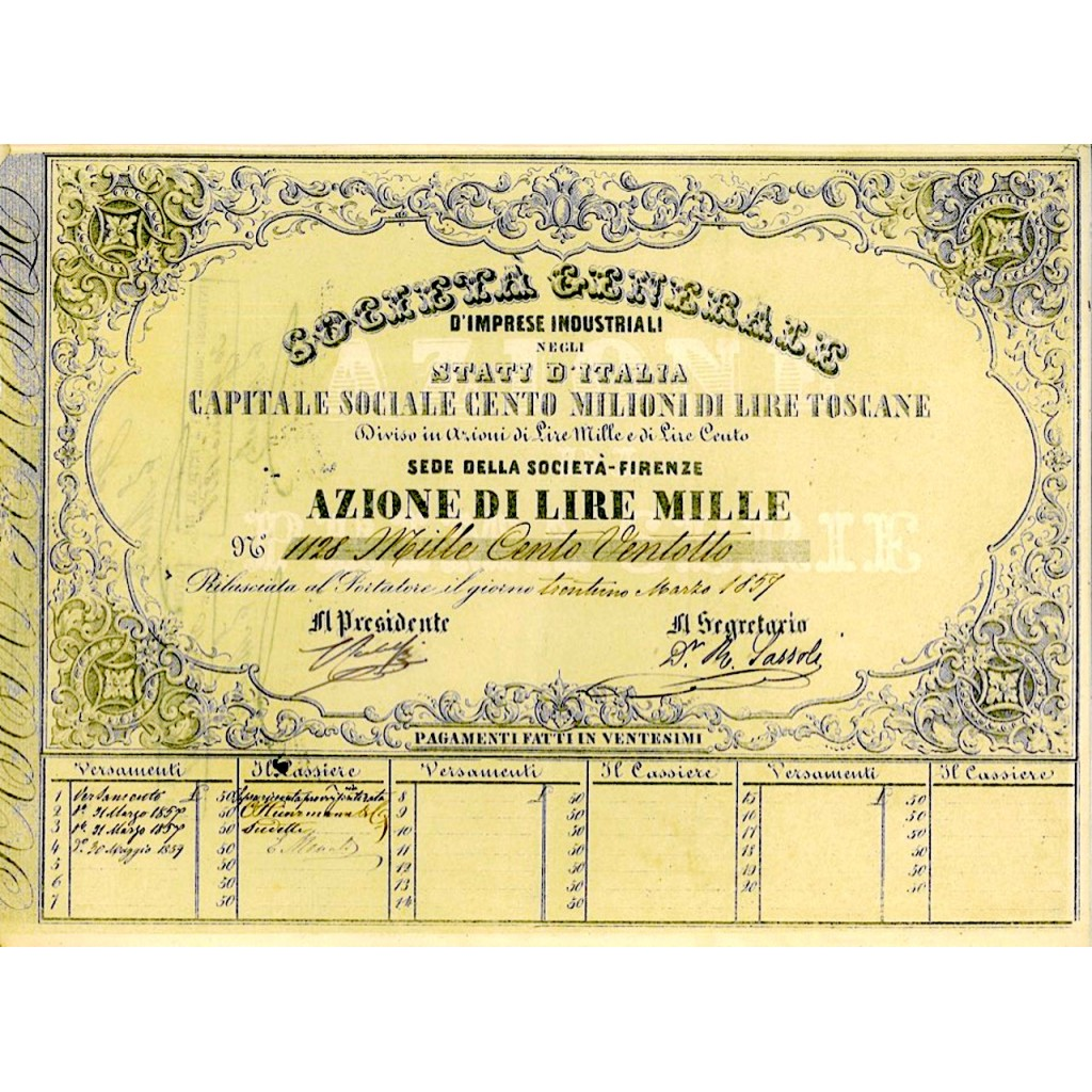 1859 - SOCIETA' GENERALE D'IMPRESE...