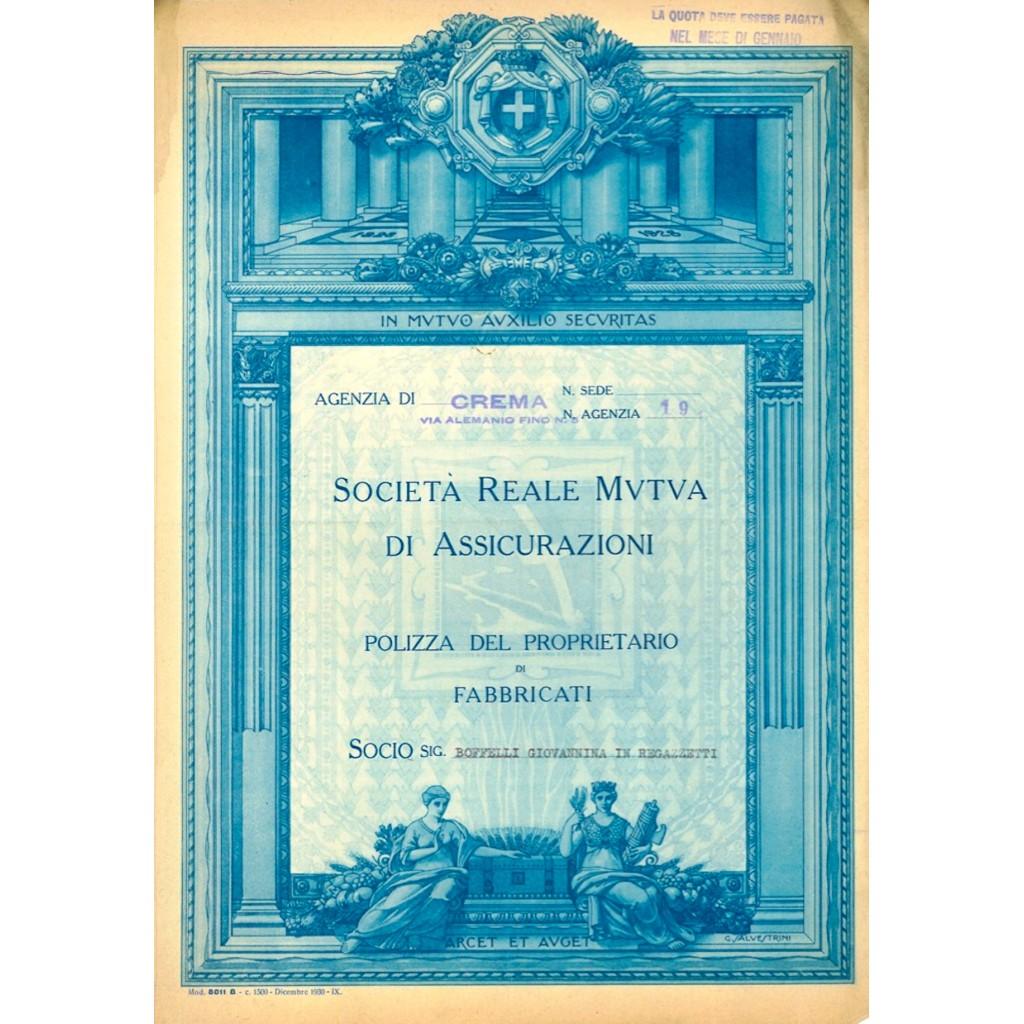 1935 - SOCIETA' REALE D'ASSICURAZIONE...
