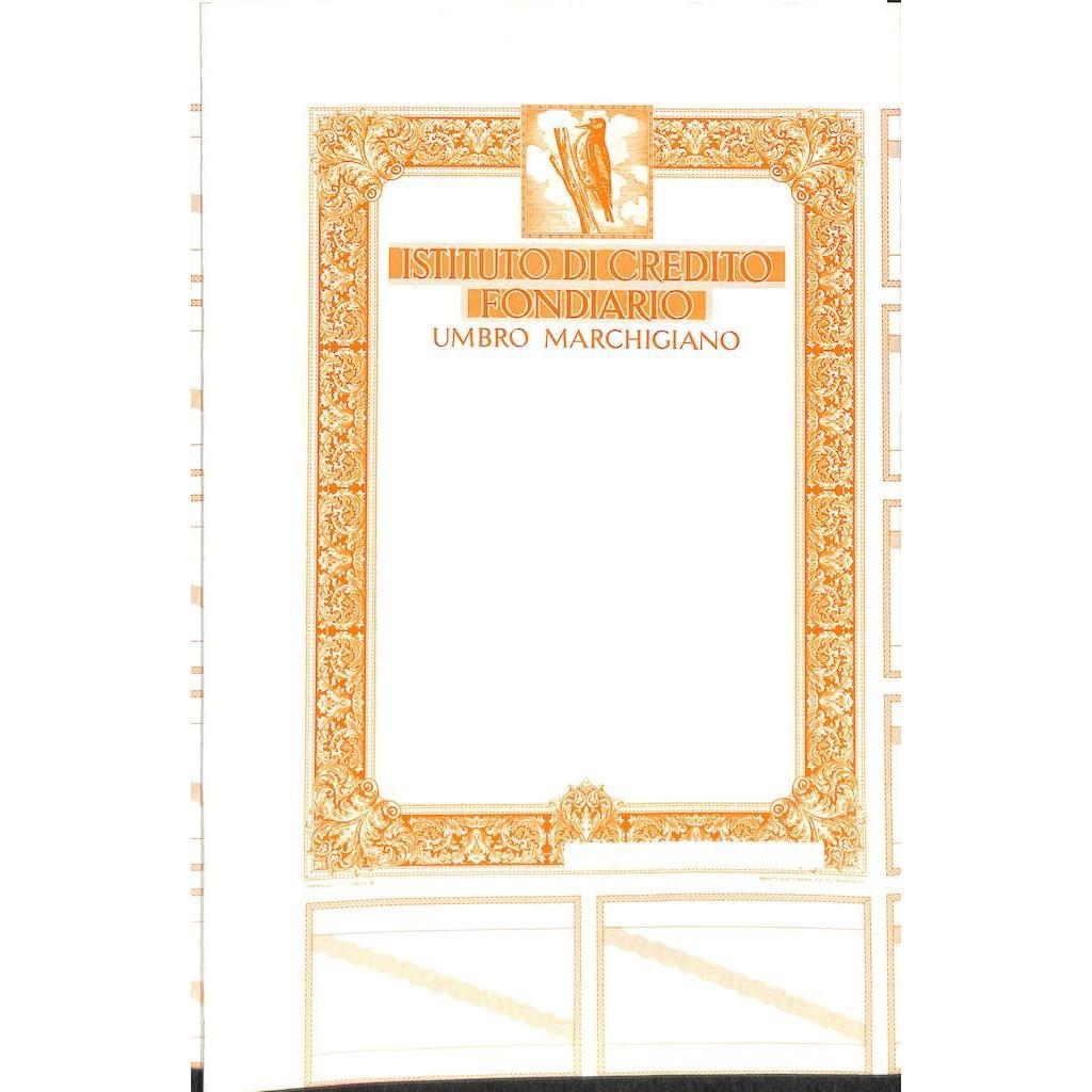 IST. DI CREDITO FONDIARIO UMBRO MARCHIGIANO - SPECIMEN