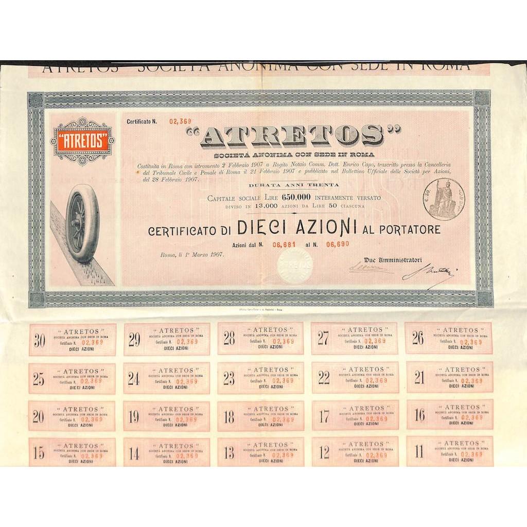 ATRETOS - 10 AZIONI ROMA 1907