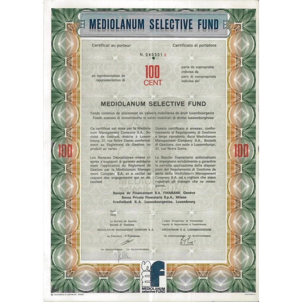 MEDIOLANUM SELECTIVE FUND - 100 AZIONI