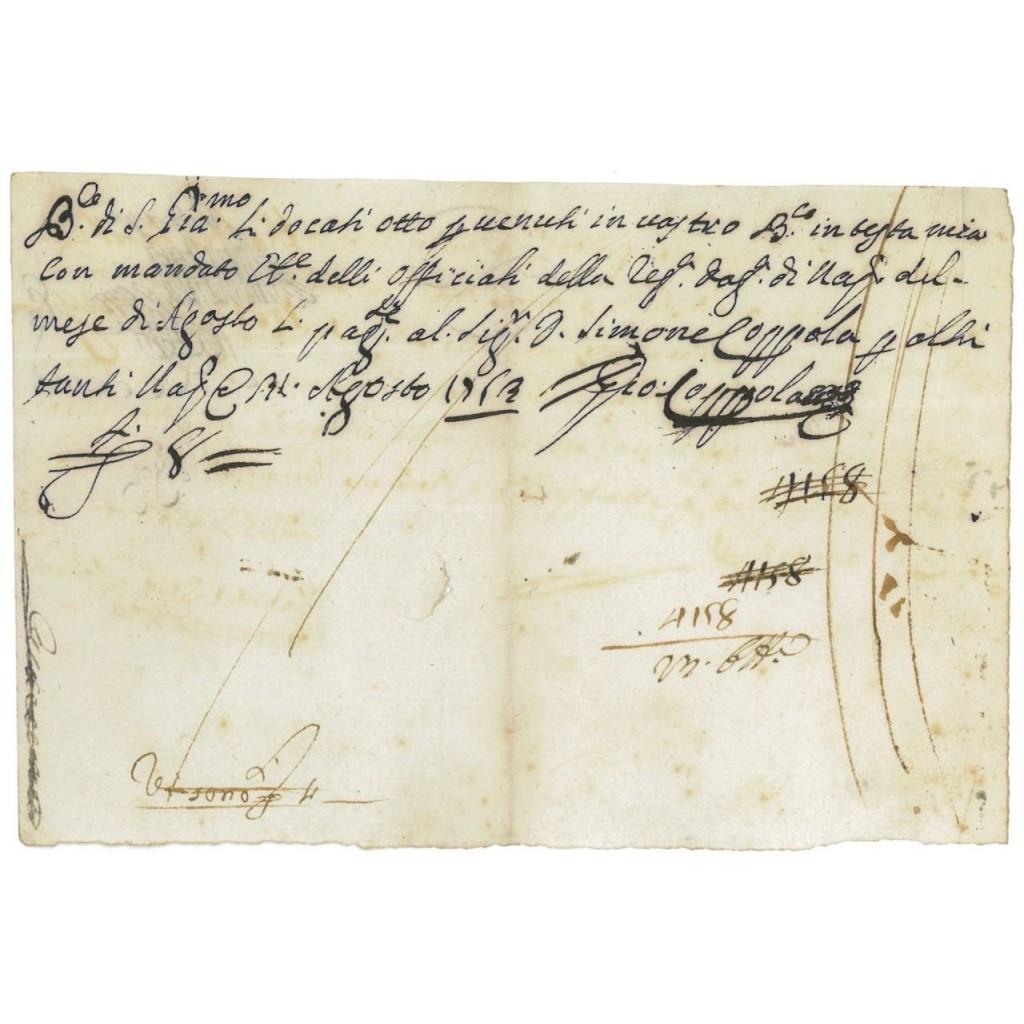 BANCO DI SAN GIACOMO - FEDE DI CREDITO 1793