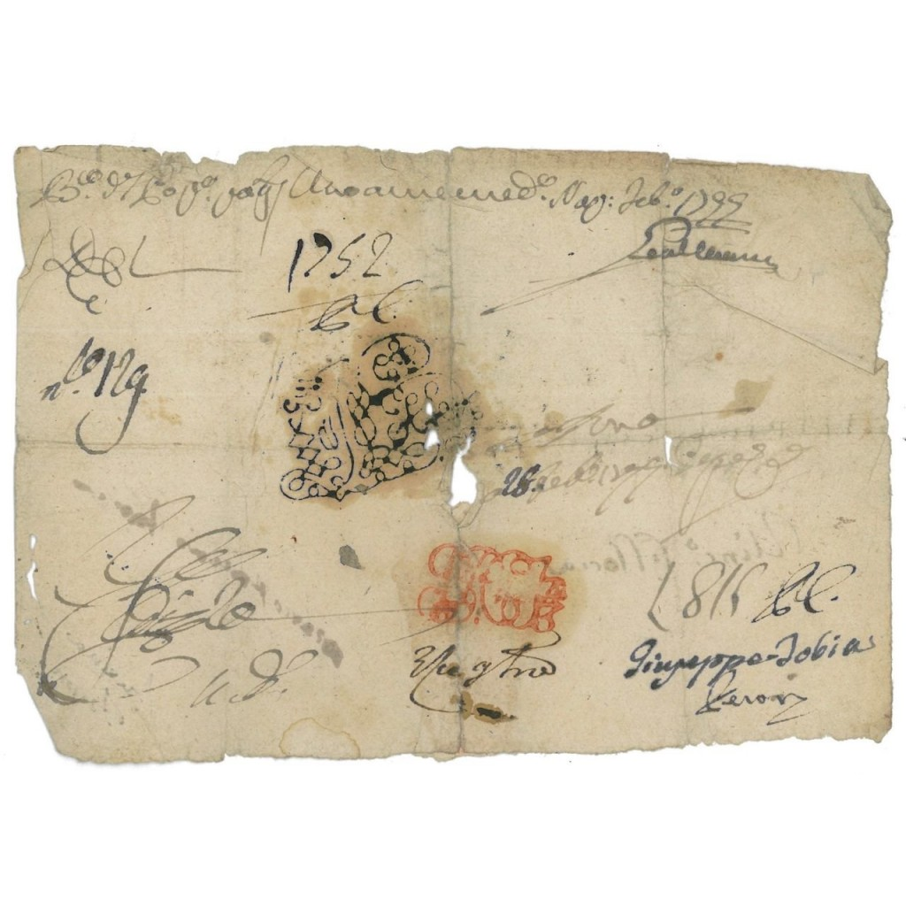 BANCO DI SANTA MARIA DEL POPOLO - FEDE DI CREDITO 1799