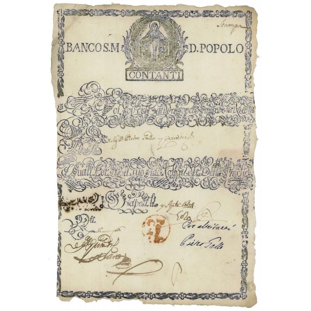 BANCO S.M. DEL POPOLO - NAPOLI 1804