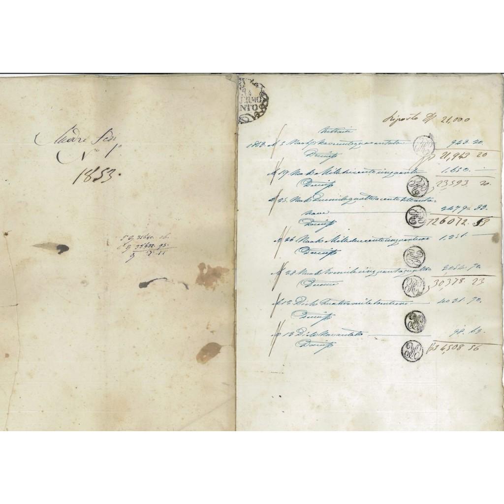 REGNO DELLE DUE SICILIE - MADREFEDE PALERMO 1853