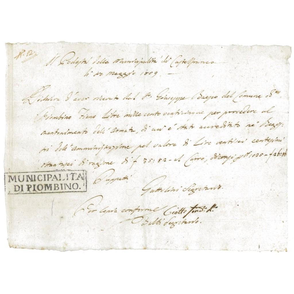 REPUBBLICA DI VENEZIA - FEDE DI CREDITO - 1809