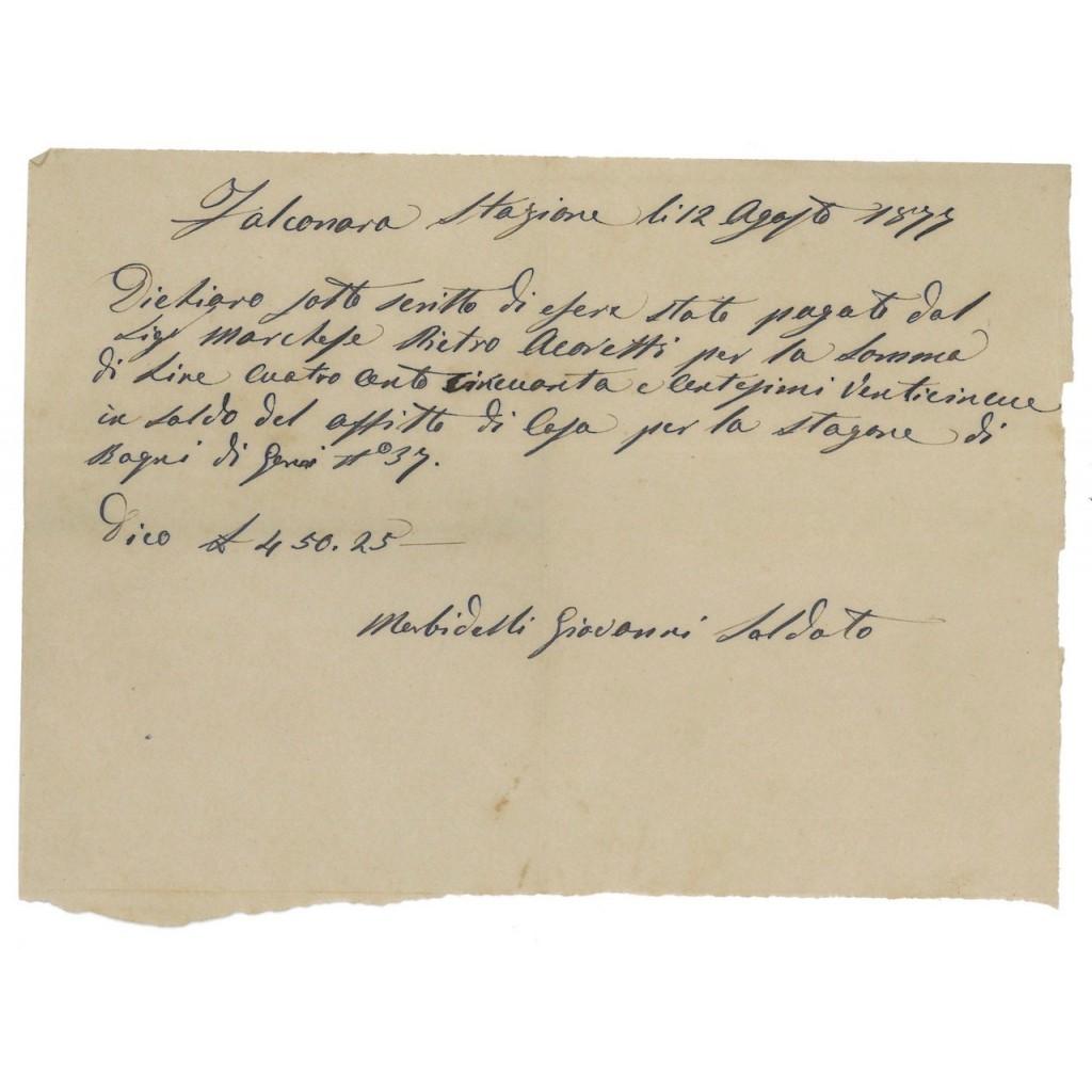 FEDE DI CREDITO - FALCONARA 1877