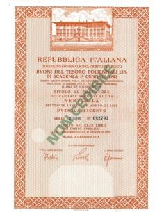 BTP POLIENNALI SERIE 008 - 20000 LIRE ROMA 1978