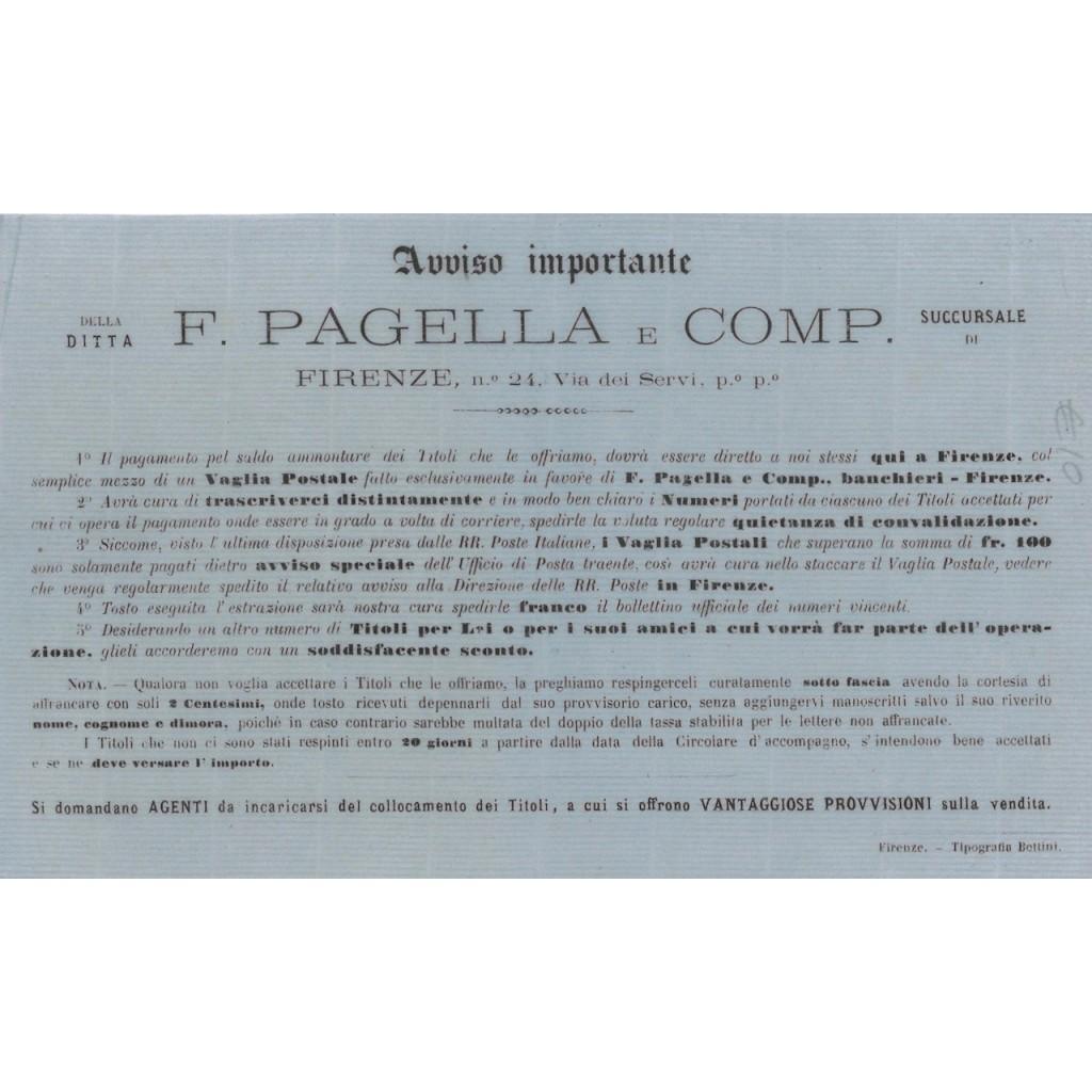 AVVISO DITTA F. PAGELLA PAGAMENTO VAGLIA