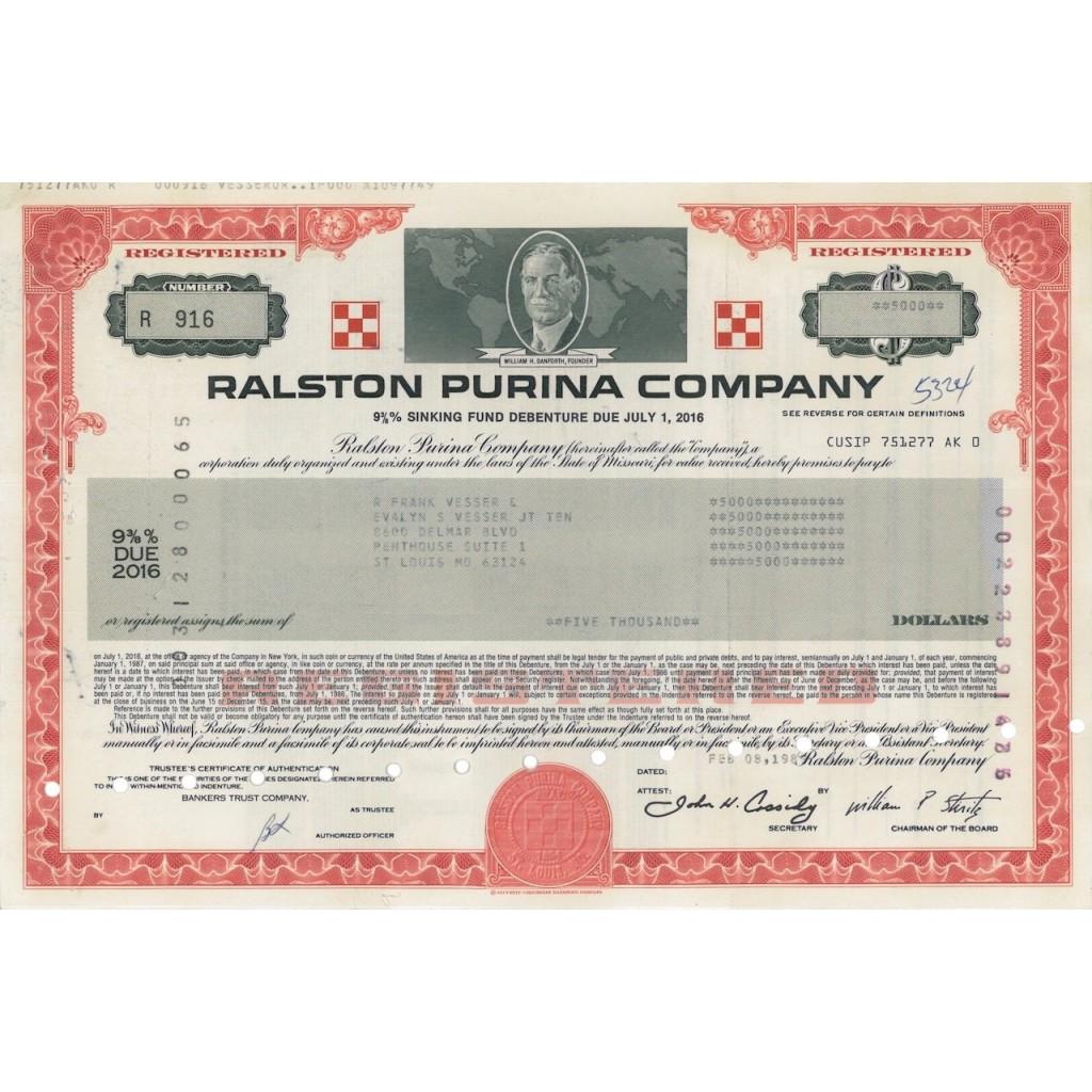 RALSTON PURINA COMPANY - 5000 DOLLARI - 1989