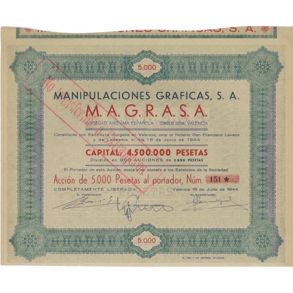 MANIPULACIONES GRAFICAS S.A. - 1 AZIONE 1944