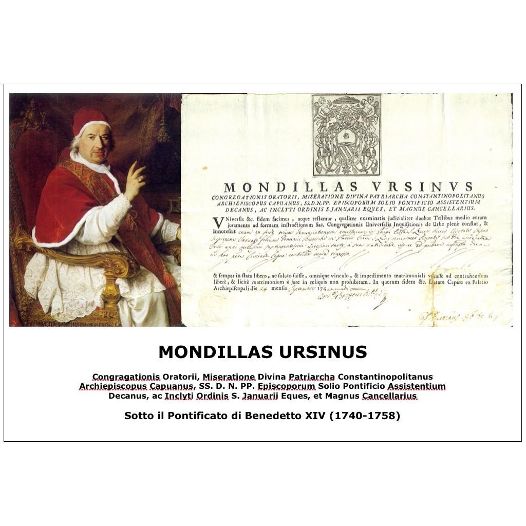 MONDILLAS URSINUS - PONT. PAPA...