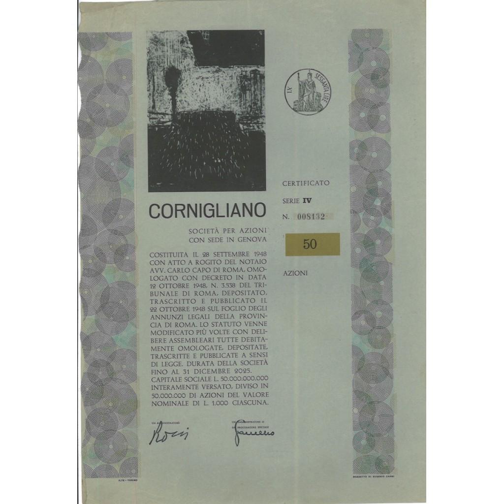 CORNIGLIANO - 50 AZIONI GENOVA 1959