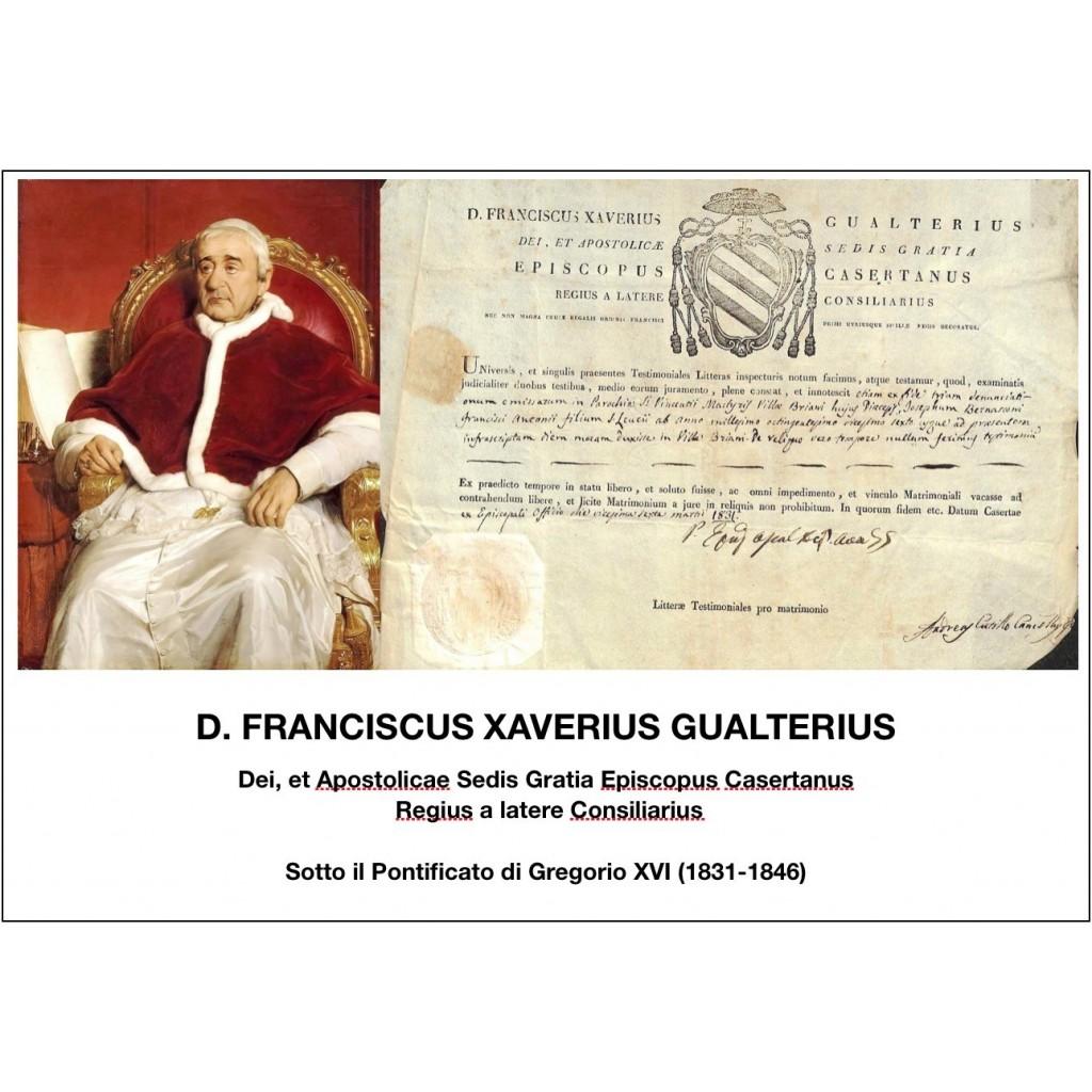 1831 - D. FRANCISCUS XAVERIUS...