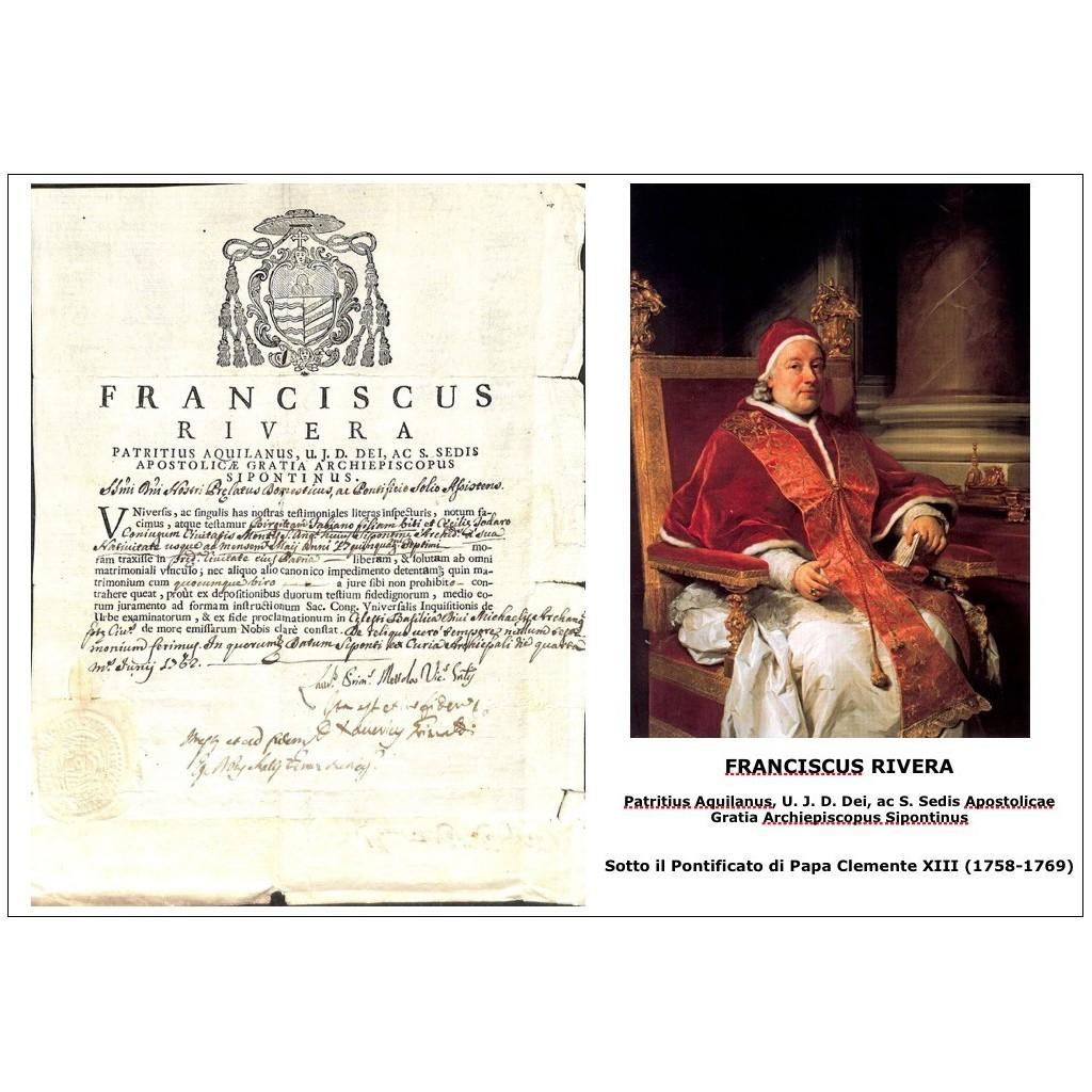 1762 - FRANCISCUS RIVERA - PONT. PAPA...