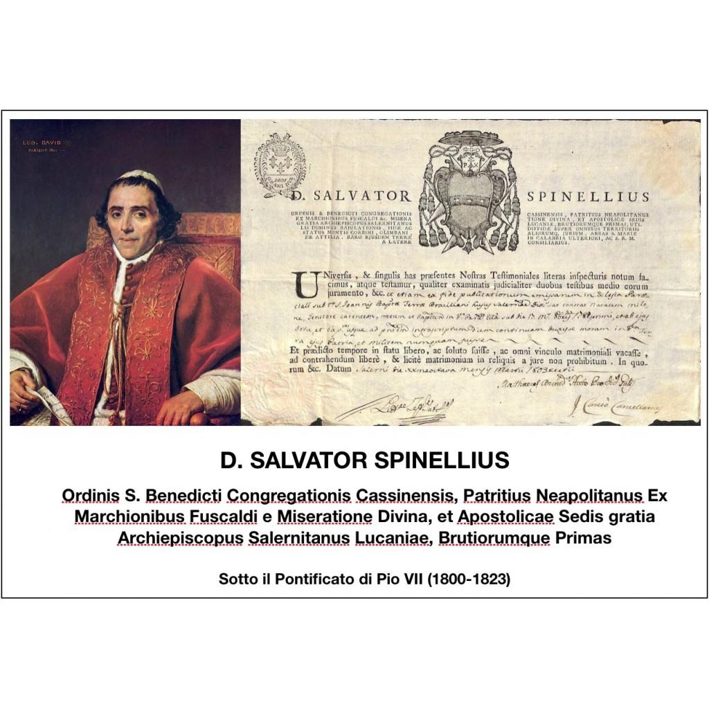 1803 - D. SALVATOR SPINELLIUS - PONT....