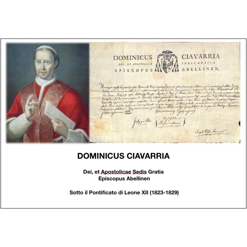 1828 - DOMINICUS CIAVARRIA - PONT....