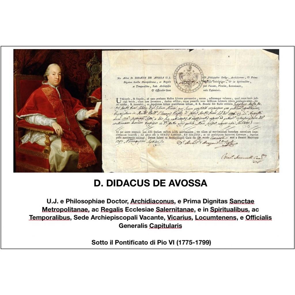 1797 - D. DIDACUS DE AVOSSA - PONT....