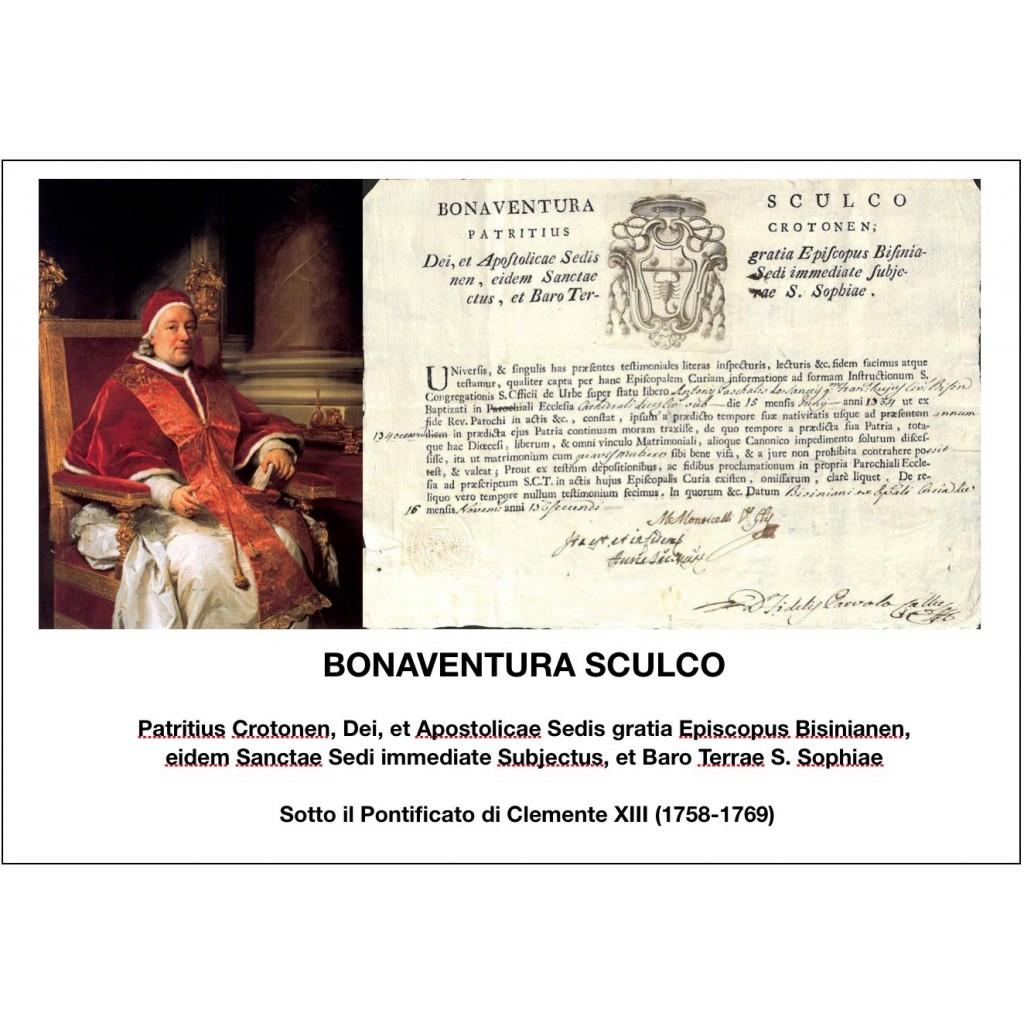 1762 - BONAVENTURA SCULCO - PONT....
