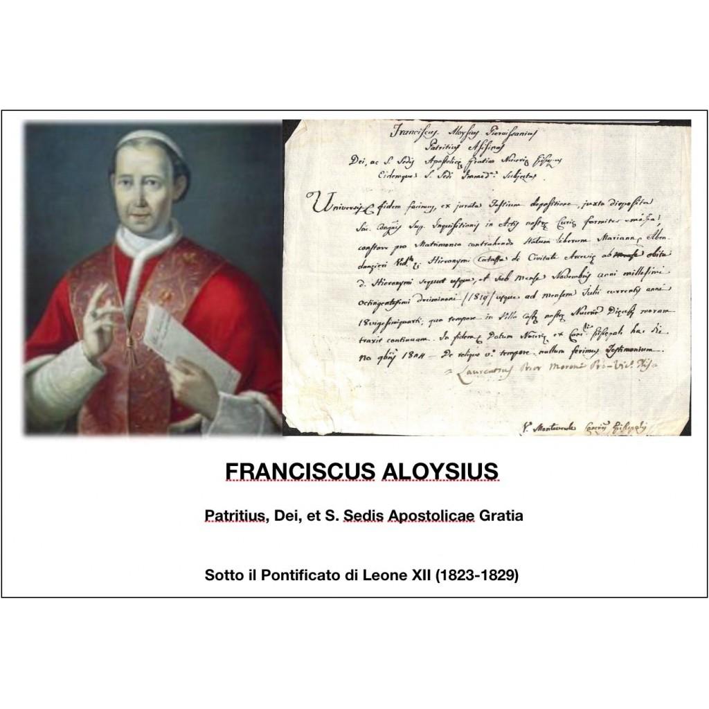1824 - FRANCISCUS ALOYSIUS - PONT....