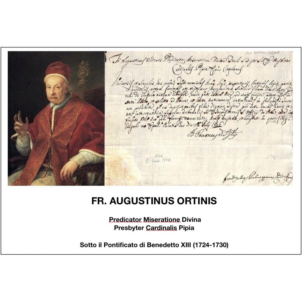 1726 - FR. AUGUSTINUS ORTINIS - PONT....