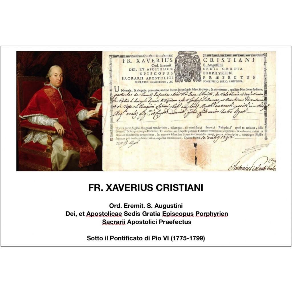 1792 - FR. XAVERIUS CRISTIANI - PONT....