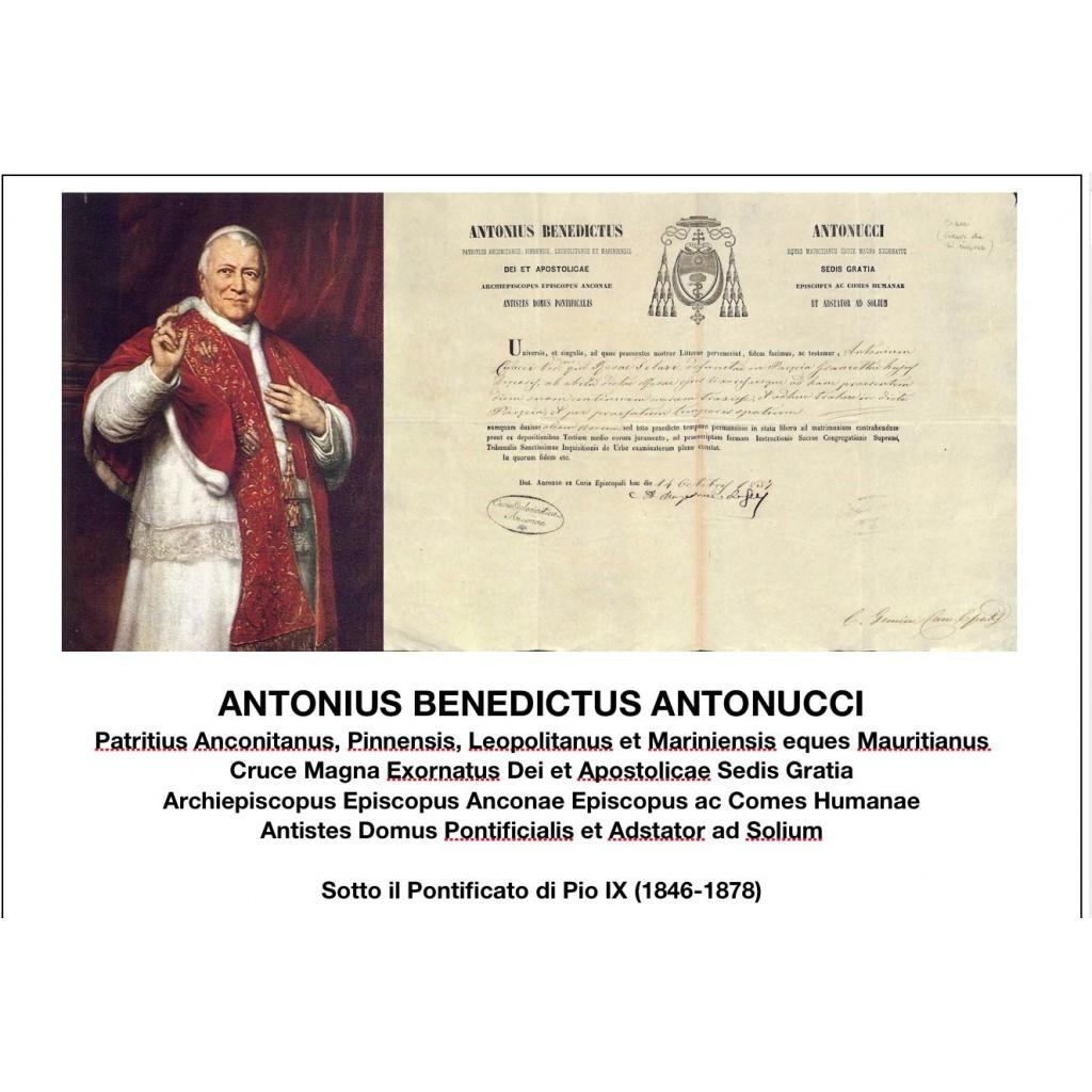 1857 - ANTONIUS BENEDICTUS ANTONUCCI...