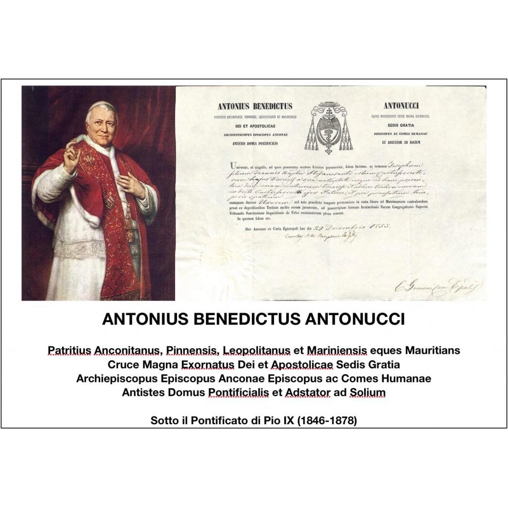 1855 - ANTONIUS BENEDICTUS ANTONUCCI...