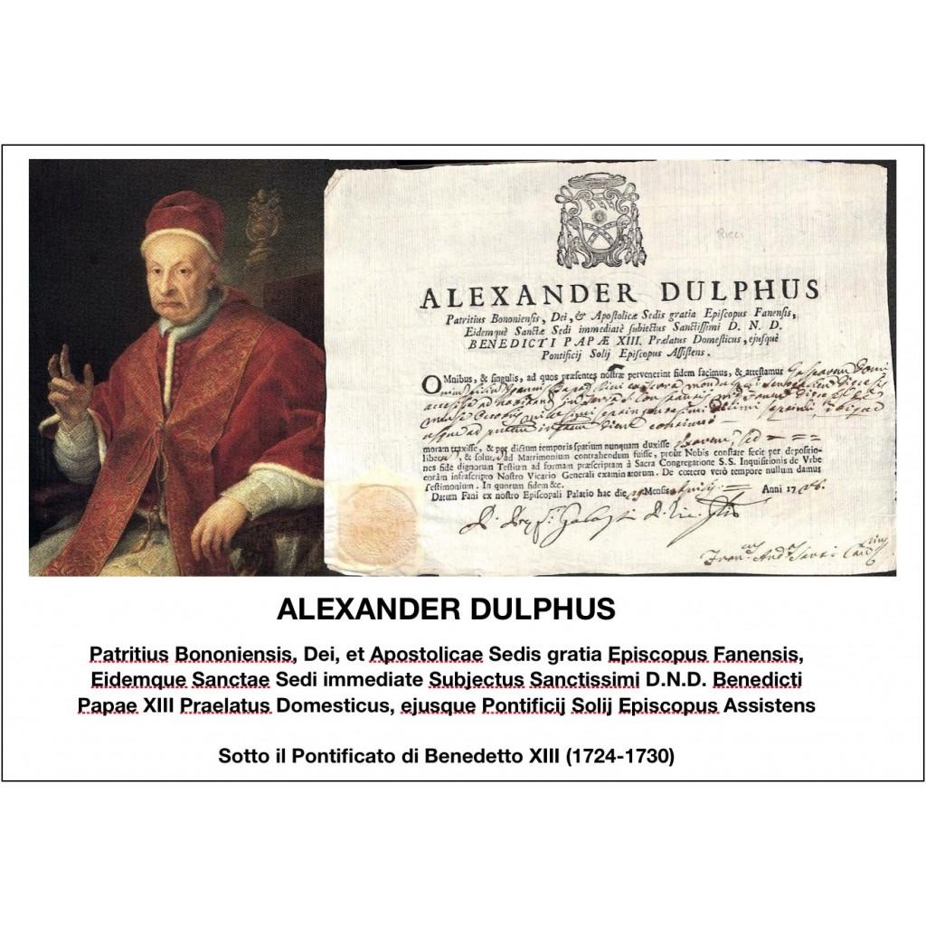 1728 - ALEXANDER DULPHUS - PONT. PAPA...
