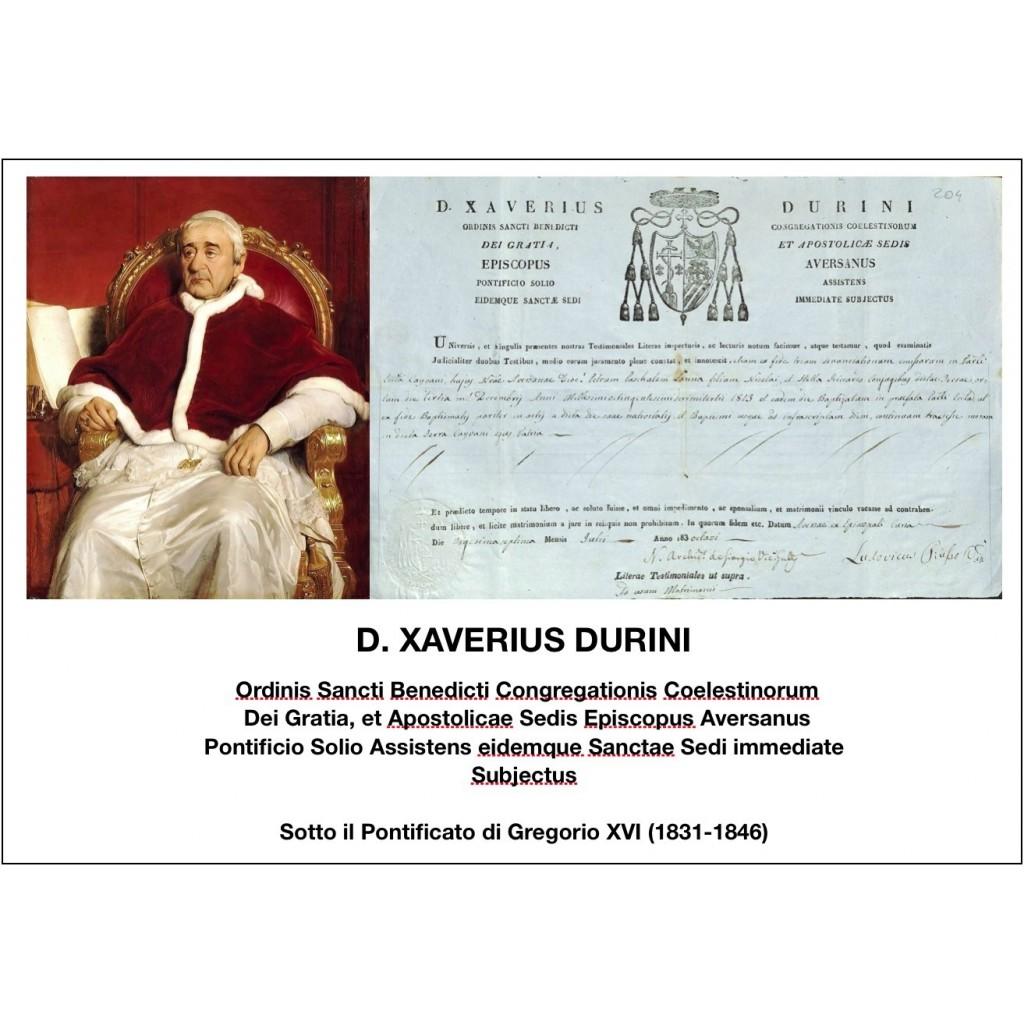 1838 - D. XAVERIUS DURINI - PONT....