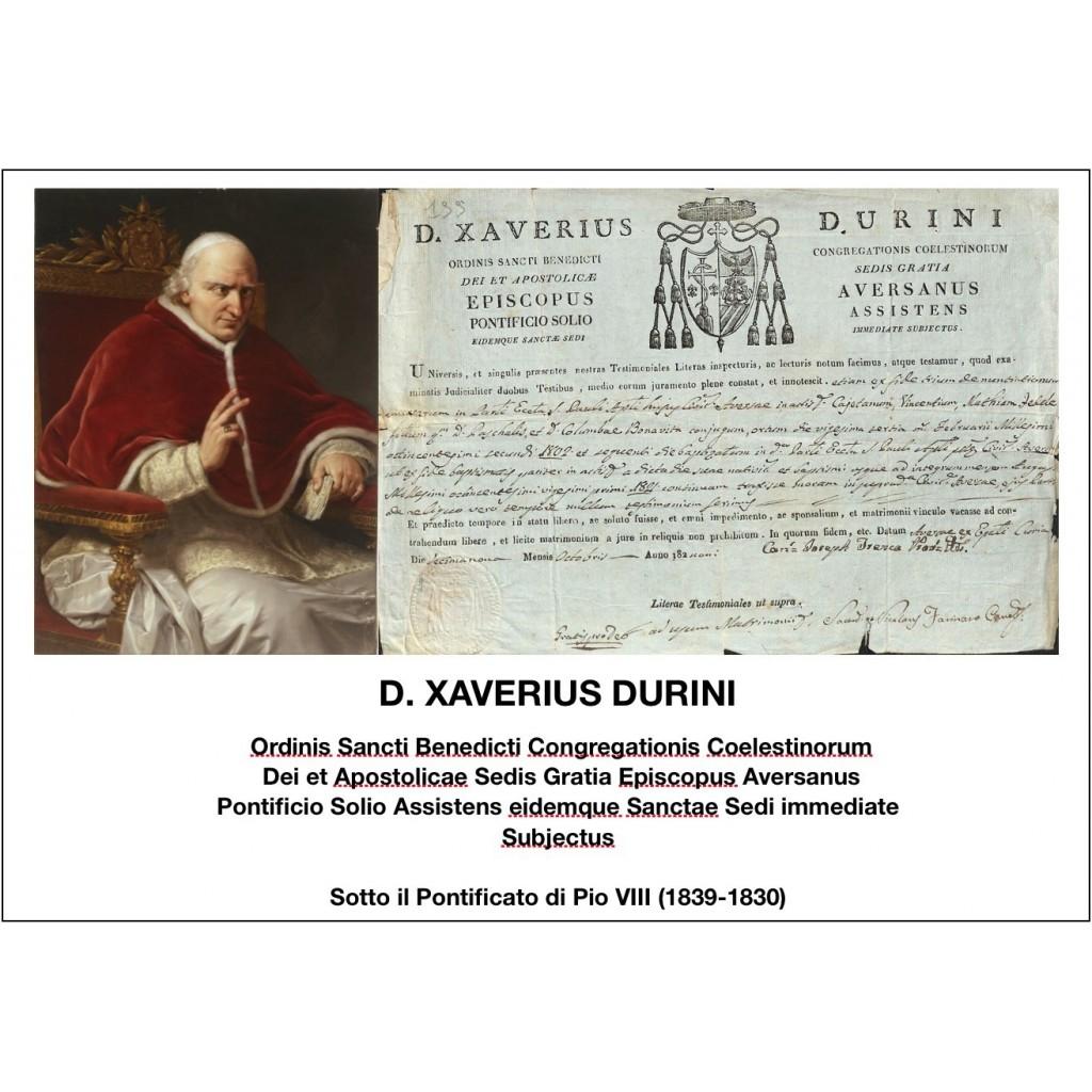 1829 - D. XAVERIUS DURINI - PONT....