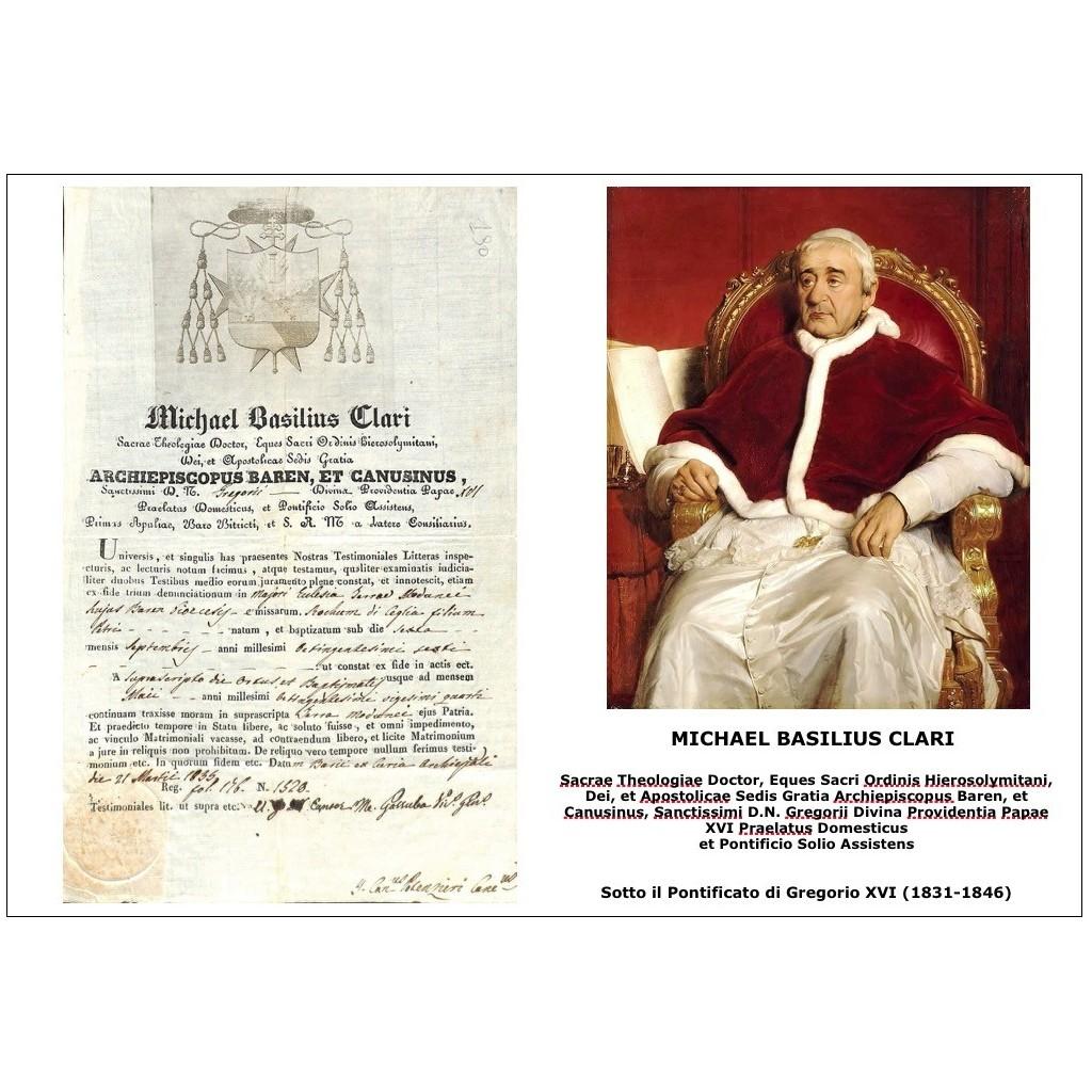 1835 - MICHAEL BASILIUS CLARI - PONT....