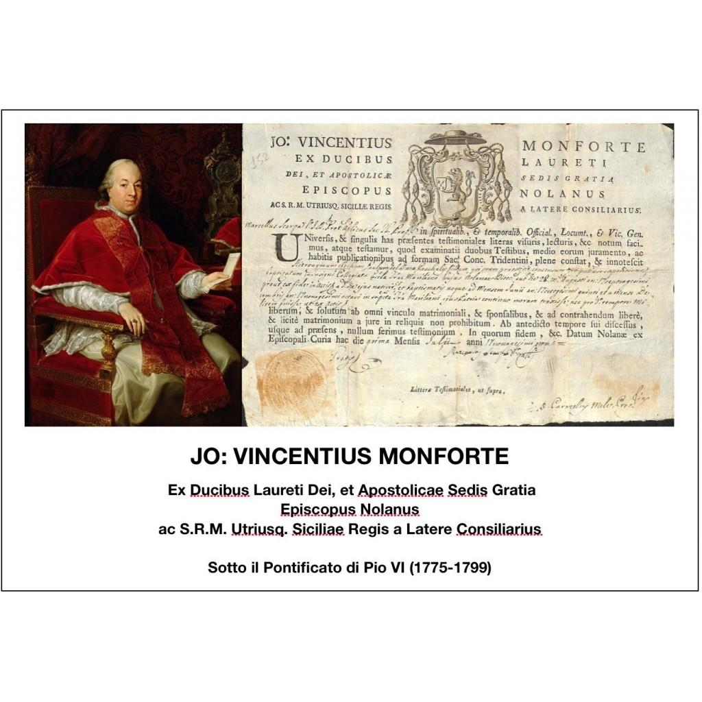 1799 - JO: VINCENTIUS MONFORTE -...