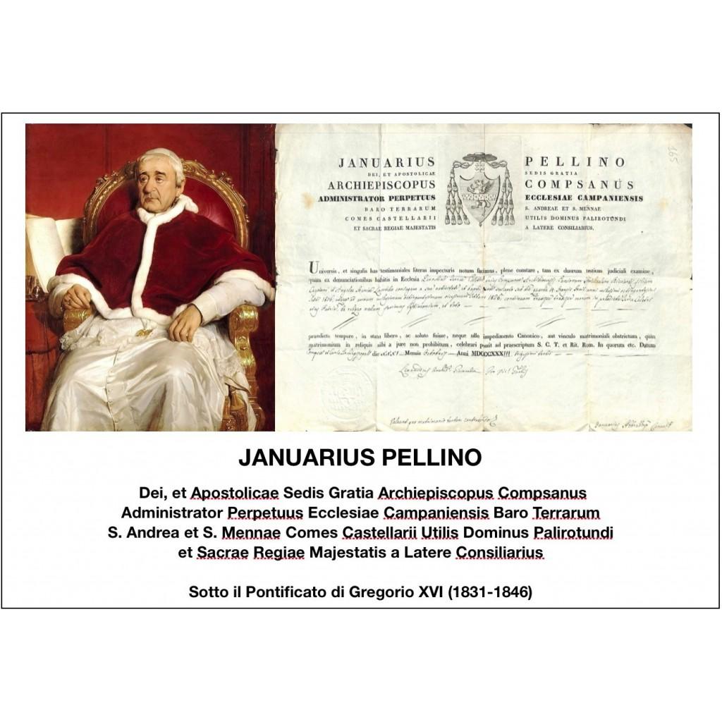 1833 - JANUARIUS PELLINO - PONT. PAPA...