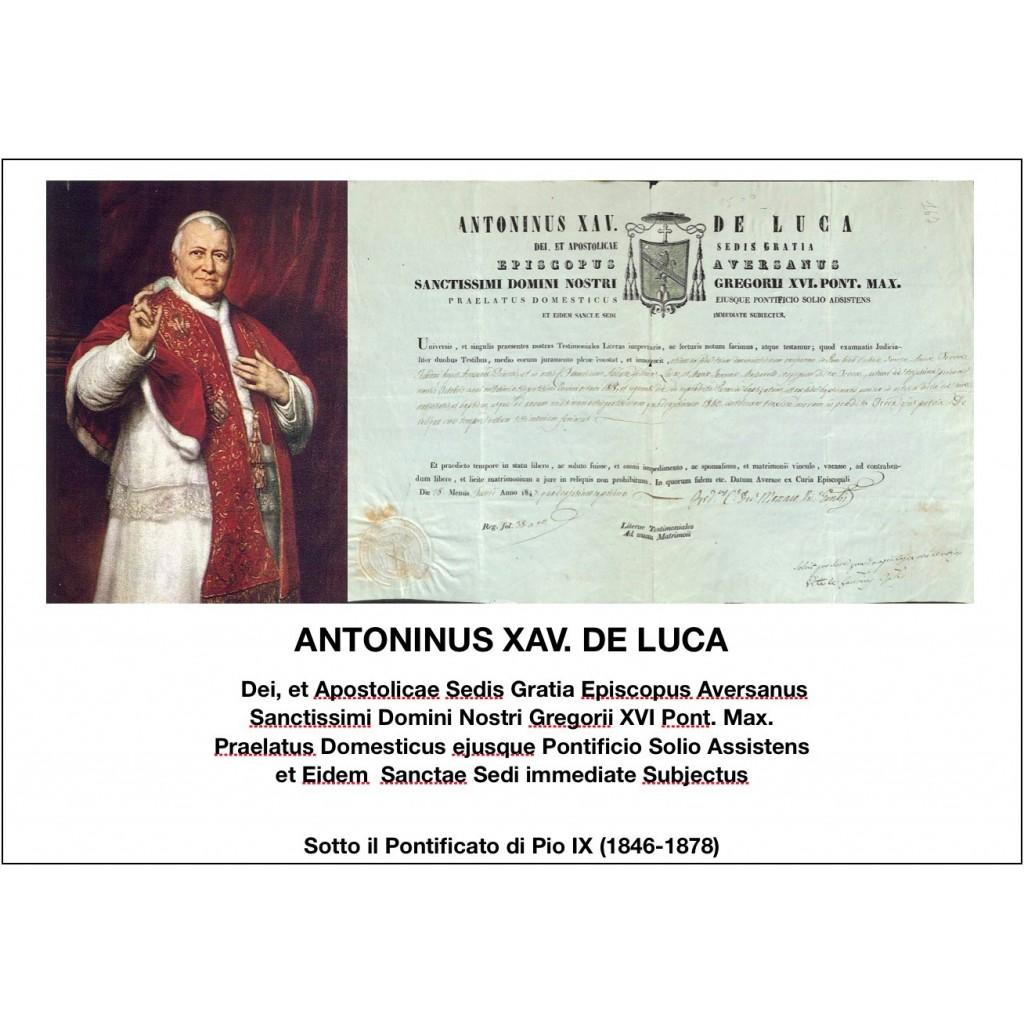 1847 - ANTONINUS XAV. DE LUCA - PONT....