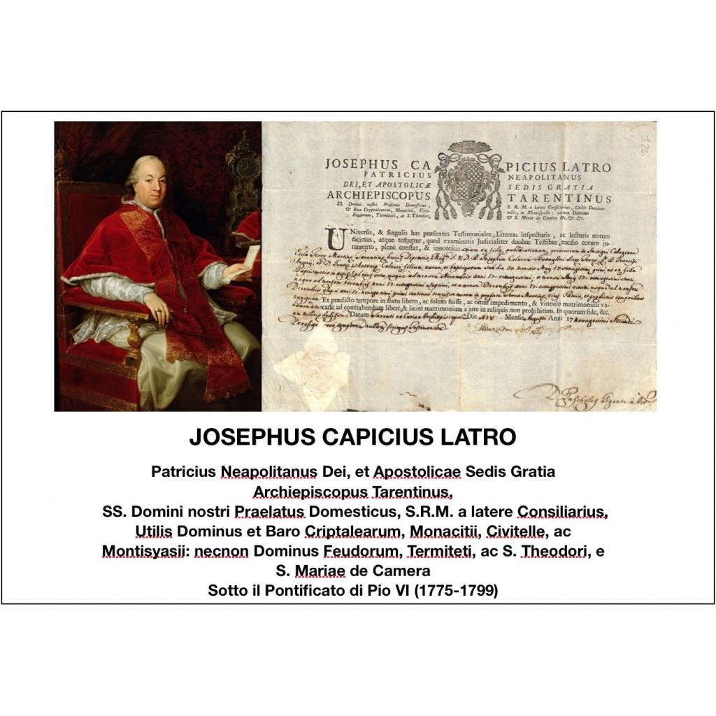 1792 - JOSEPHUS CAPICIUS LATRO -...