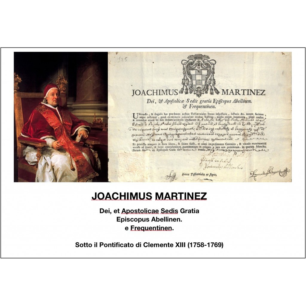 1762 - JOACHIMUS MARTINEZ - PONT....