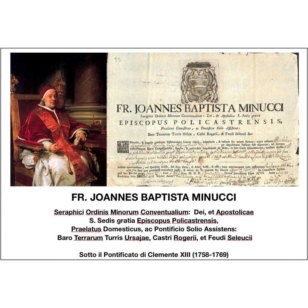 1761 - FR. JOANNES BAPTISTA MINUCCI -...