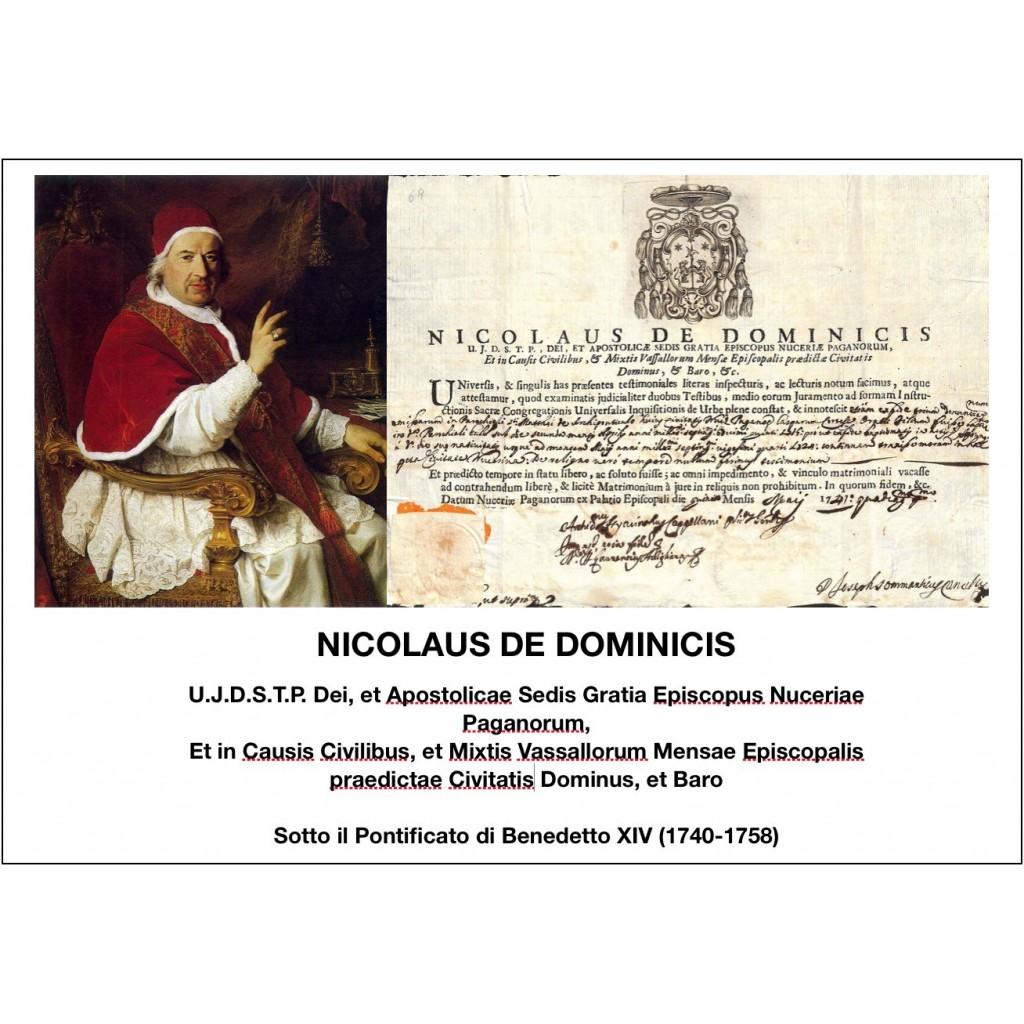 1741- NICOLAUS DE DOMINICIS - PONT....