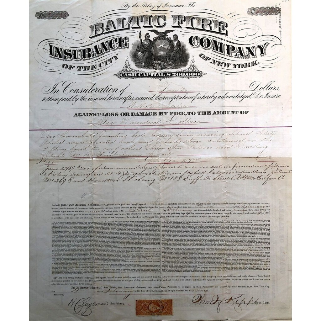 1869 - BALTIC FIRE INSURANCE COMPANY...