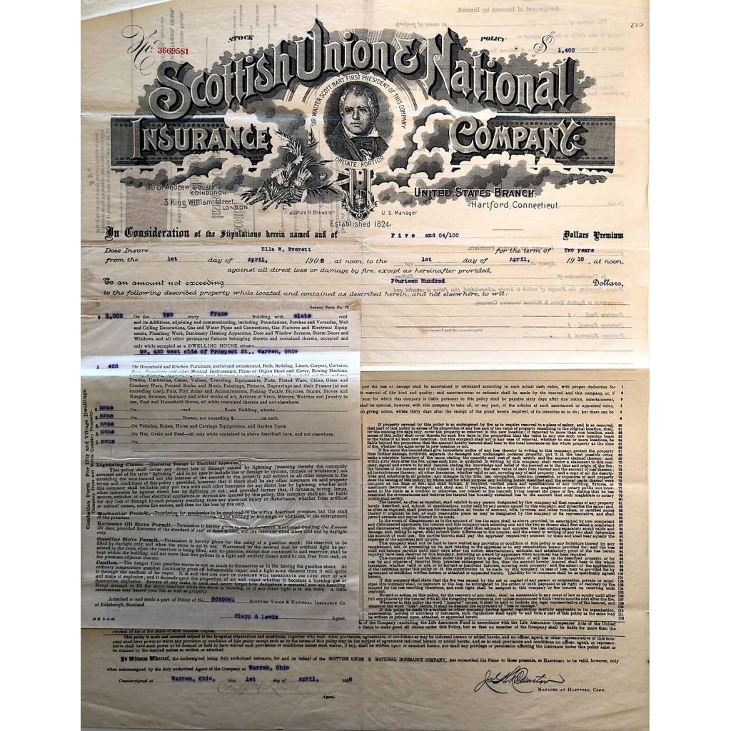 1908 - SCOTTISH UNION AND NATIONAL...